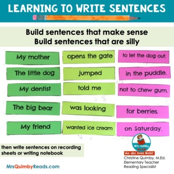 Writing Sentences | Building Sentences | Learning to Write
