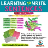Writing Sentences for First Graders