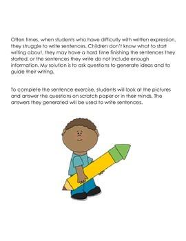 Writing Sentences for Struggling Writers 2