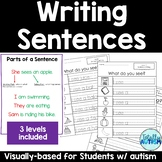 Writing Sentences for Students with autism