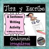 Writing Sentences in the Conditional with Irregular Verbs: Dice Game