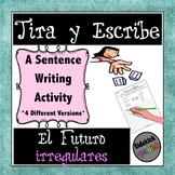 Writing Sentences in the Future Tense with Irregular Verbs: Dice Game