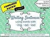 Writing Sentences using ED, ING for Struggling Writers 113