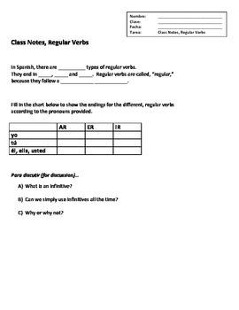 Writing Sentences w/ Regular Verbs--5 Page Packet!