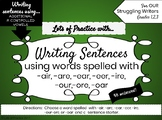 Writing Sentences with ADDITIONAL R CONTROLLED VOWELS for