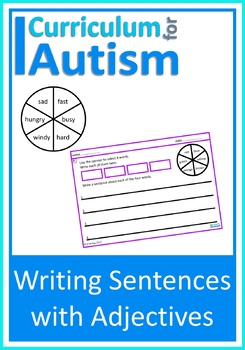 Writing Sentences Adjectives Autism Special Education ESL