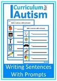Writing Sentences with Prompts, Worksheets, Autism, Special Education, ESL