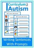 Writing Sentences with Prompts Autism Language Arts