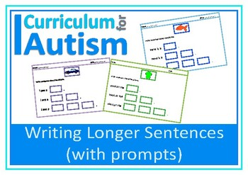Writing Sentences with Prompts, Autism, Special Education