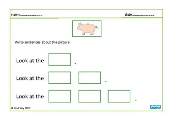 Writing Expanded Sentences with Prompts Autism Special Education
