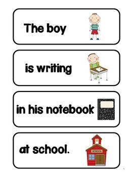 Writing Sentences with Sentence Frames