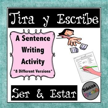 Writing Sentences with Ser and Estar: Dice Game