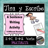 Writing Sentences with Stem Changing Verbs in Preterite Tense: Dice Game
