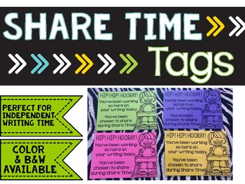 Writing Share Time Tags