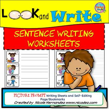 Writing Sheets for Sentence Writing