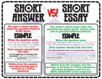 Writing: Short Answer versus Short Essay