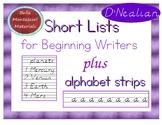 Writing Short Lists - Practice writing D'Nealian