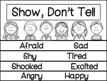 Writing: Show, Don't Tell  Flip Book