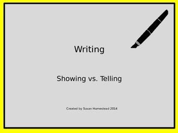 Writing ~ Showing vs. Telling ~  Power Point Lesson