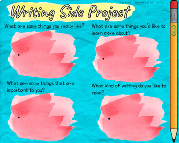 Writing Side Project Plan