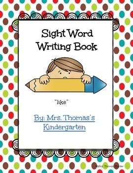 Writing Sight Word Book