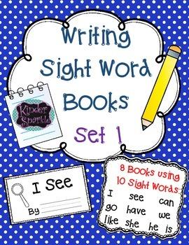 Writing Sight Word Books Set 1