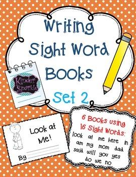 Writing Sight Word Books Set 2