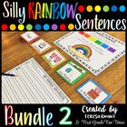 Writing Silly Sentences Bundle 2 Writing Prompts Sentence Building