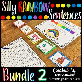 Writing Silly Sentences Bundle 2 Writing Prompts Sentence