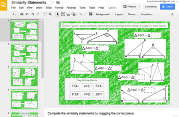 Writing Similarity Statement~Google Drive Interactive Activity~Differentiated