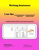 """Writing Simple Sentences """"I see..."""" with Plural Nouns"""