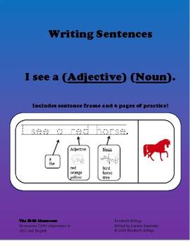 "Writing Simple Sentences Using 'I see..."""