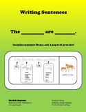 Writing Simple Sentences Using 'are'