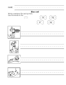 writing simple sentences worksheet by katherine eccleston tpt. Black Bedroom Furniture Sets. Home Design Ideas