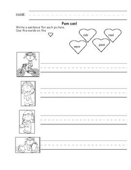 Writing Simple Sentences Worksheet