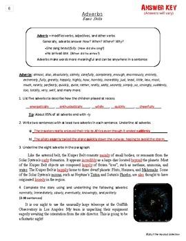 Writing Skills | Adjectives & Adverbs - 2 Printable Worksheets (Grades 3-7)