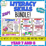 Writing Skills BUNDLE Activities, Posters and Task Cards Y