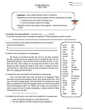 Writing Skills: Basic - 7 Printable Worksheets (Grades 3-7)