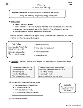 Writing Skills | Bibliography & Poetry - 2 Printable Worksheets (Grades 3-7)