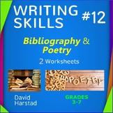 Bibliography Worksheet & Poetry Worksheet