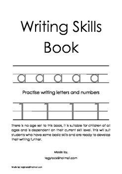 Writing Skills Book - Handwriting
