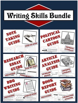 Writing Skills Bundle: Six Clear and Well-Organized Templa