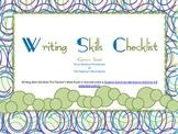 Writing Skills Checklist