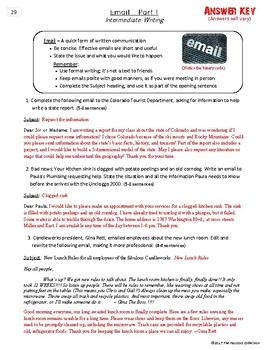 Writing Skills | Email I & Email II - 2 Printable Worksheets (Grades 3-7)