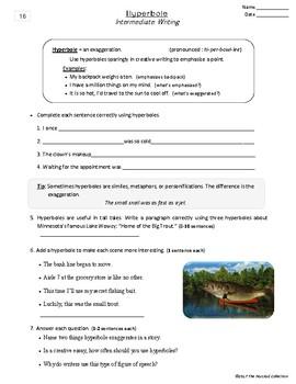 Writing Skills | Fluff & Hyperbole - 2 Printable Worksheets (Grades 3-7)