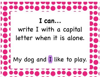 Writing Skills - I Can Posters
