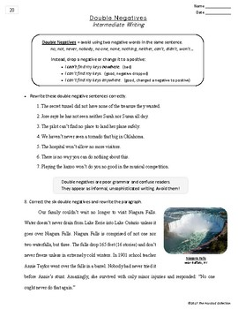 Writing Skills | Personification & Double Negatives - 2 Worksheets (Grades 3-7)