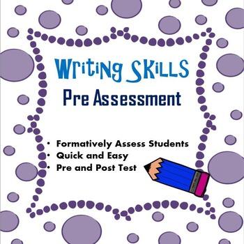 Writing Skills Pre Assessment