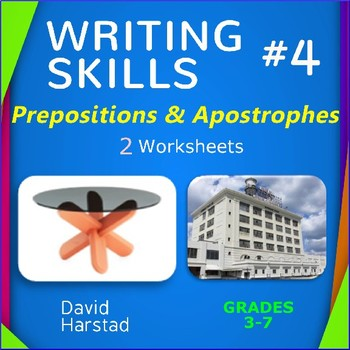 Writing Skills | Prepositions & Apostrophes - 2 Worksheets (Grades 3-7)