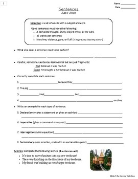Writing Skills | Sentences & Paragraphs - 2 Printable Worksheets (Grades 3-7)